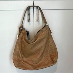 Furla ostrich handbag